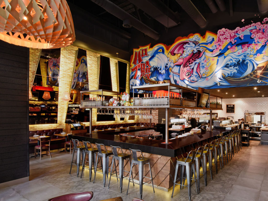 Pubbelly Sushi Miami project interior view