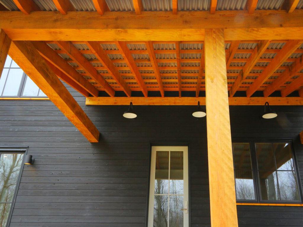 Farmhouse Yakisugi project veranda pic